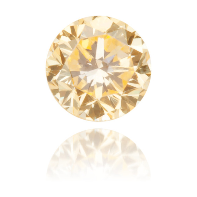 Natural Orange Diamond Round 0.12 ct Polished