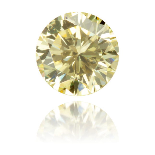 Natural Yellow Diamond Round 0.27 ct Polished