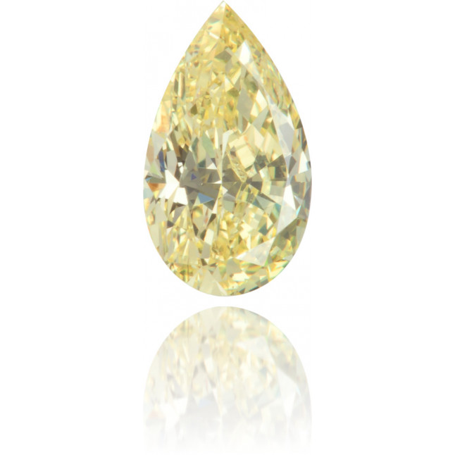 Natural Yellow Diamond Pear Shape 0.52 ct Polished