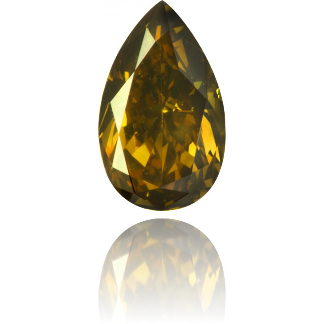 Natural Brown Diamond Pear Shape 0.54 ct Polished