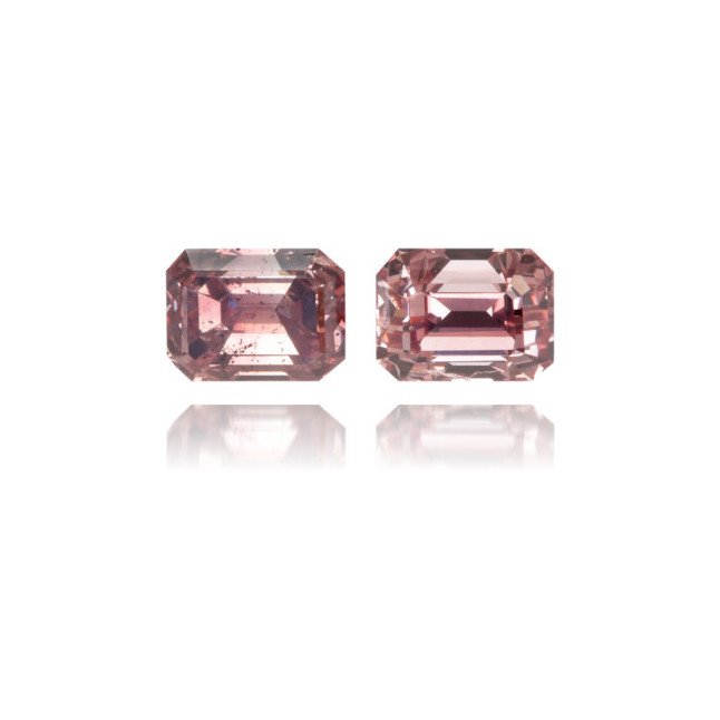 Natural Pink Diamond Rectangle 0.76 ct Set