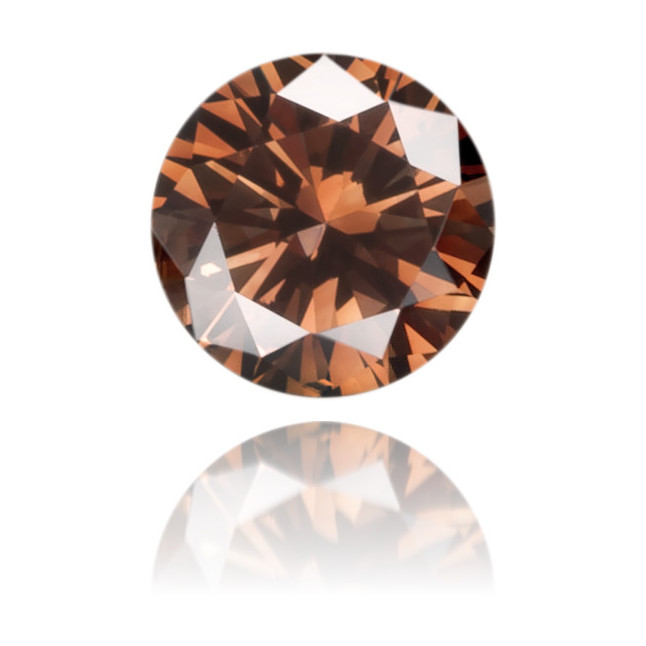 Natural Brown Diamond Round 0.15 ct Polished