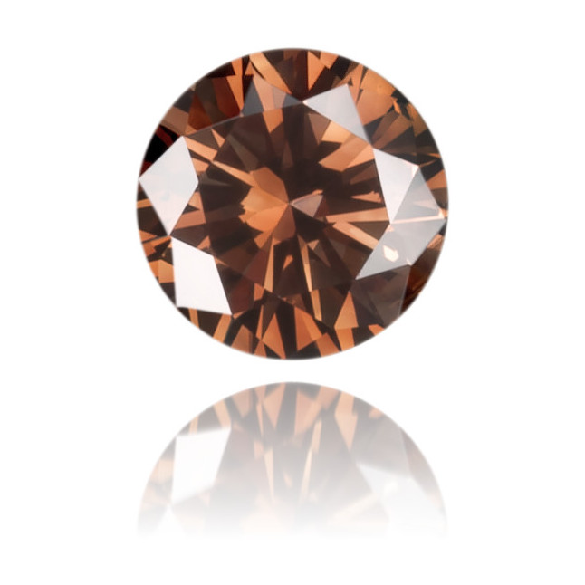 Natural Brown Diamond Round 0.13 ct Polished