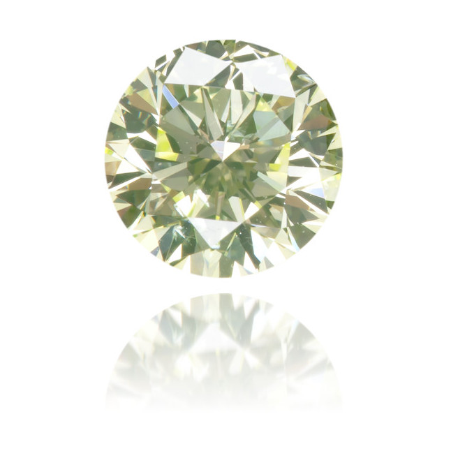 Natural Green Diamond Round 0.42 ct Polished