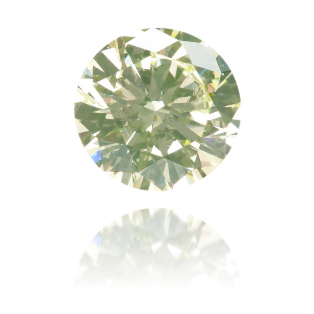 Natural Green Diamond Round 0.38 ct Polished