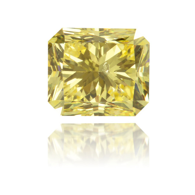 Natural Yellow Diamond Rectangle 0.66 ct Polished
