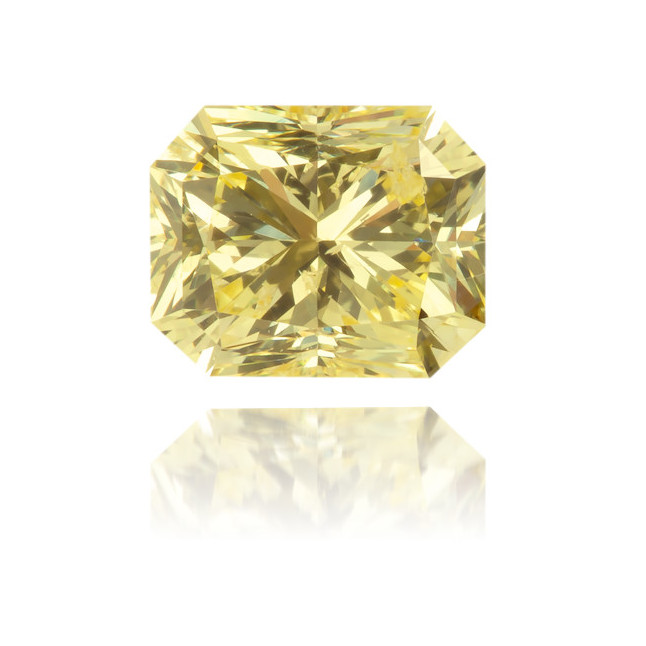 Natural Yellow Diamond Rectangle 0.68 ct Polished