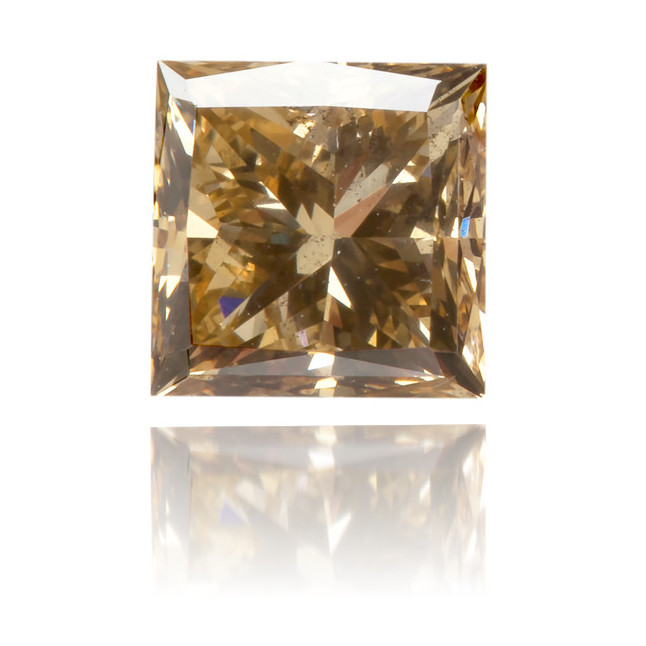 Natural Brown Diamond Square 0.72 ct Polished