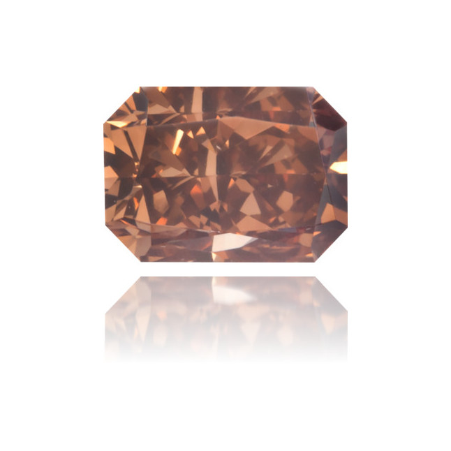 Natural Brown Diamond Rectangle 0.39 ct Polished