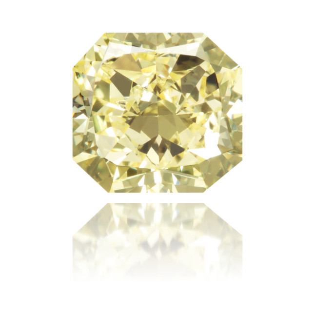 Natural Yellow Diamond Rectangle 1.02 ct Polished