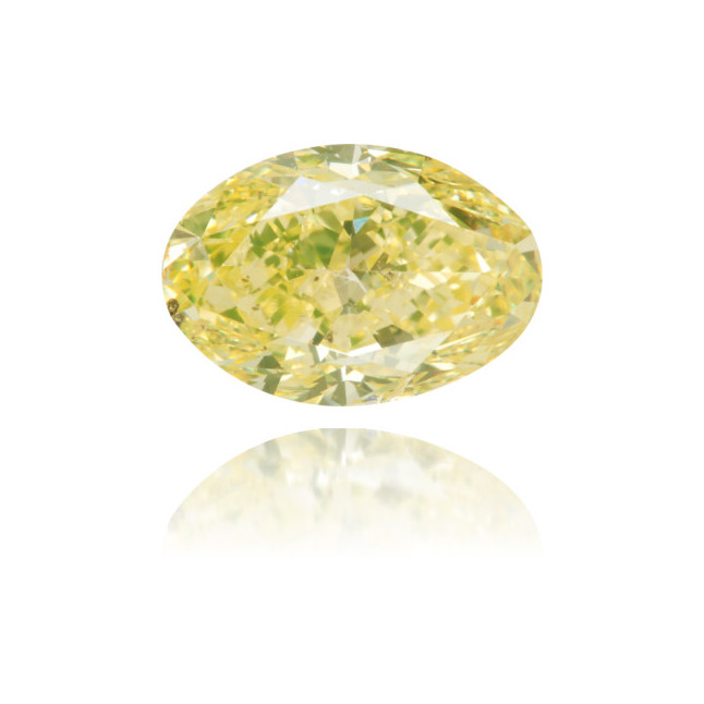 Natural Yellow Diamond Oval 2.14 ct Polished