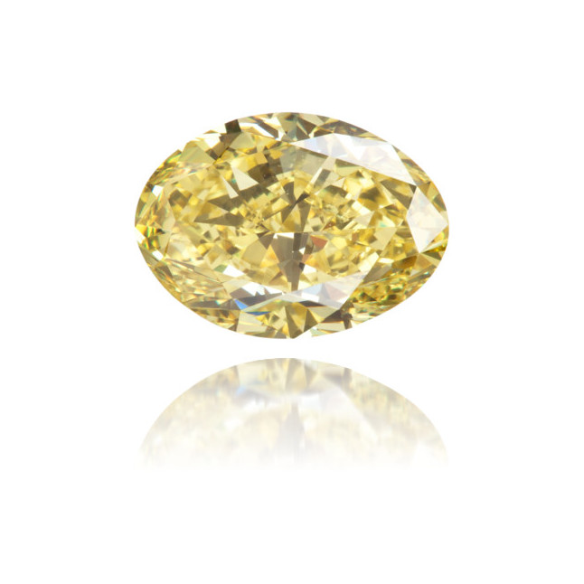 Natural Yellow Diamond Oval 1.60 ct Polished