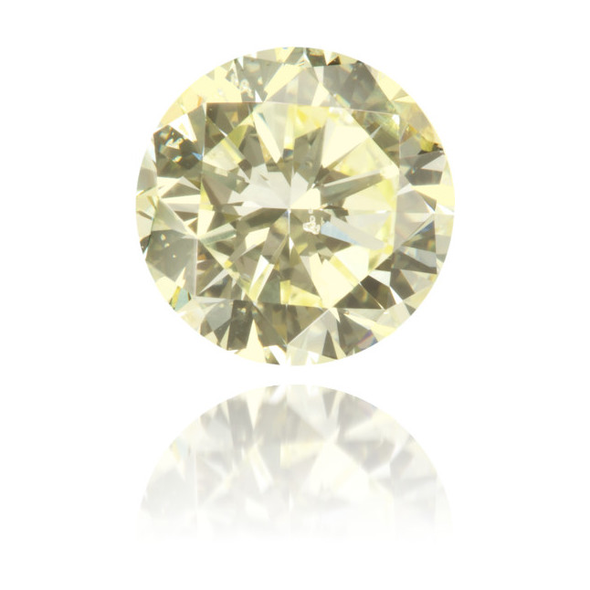 Natural Yellow Diamond Round 1.18 ct Polished