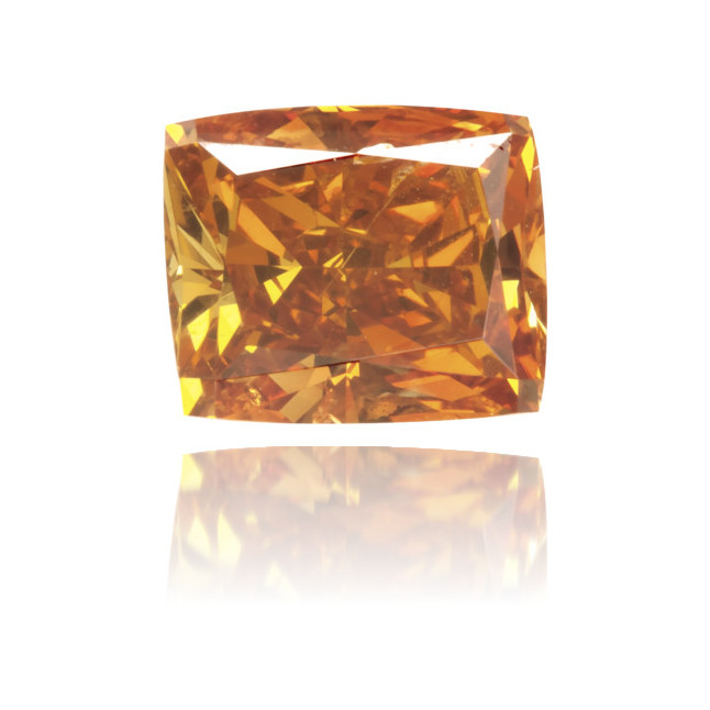 Natural Orange Diamond Rectangle 0.86 ct Polished