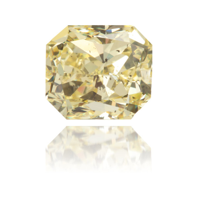 Natural Yellow Diamond Rectangle 2.50 ct Polished