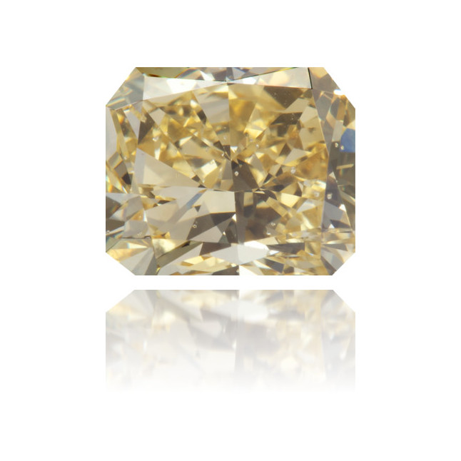 Natural Yellow Diamond Rectangle 2.04 ct Polished