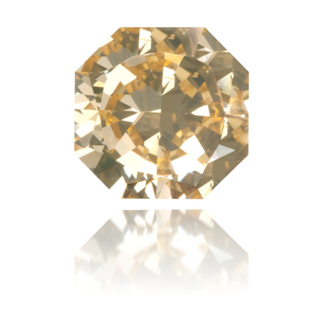 Natural Yellow Diamond Octagon 1.68 ct Polished