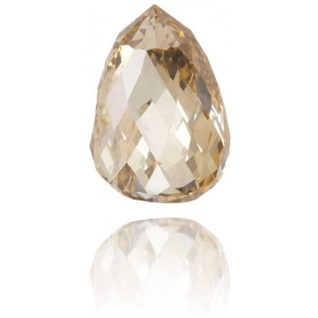 Natural Brown Diamond Briolet 1.34 ct Polished