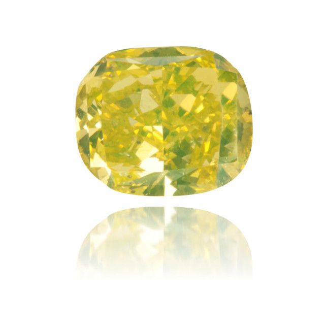 Natural Green Diamond Square 0.69 ct Polished