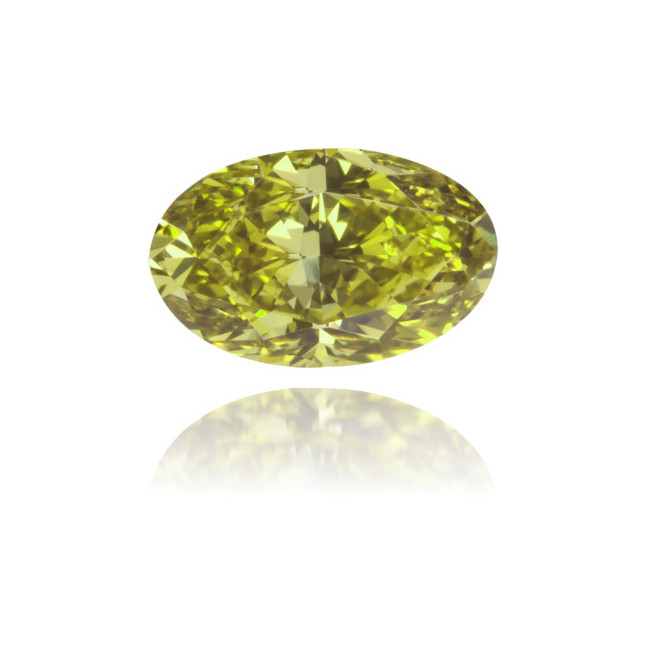 Natural Green Diamond Oval 0.67 ct Polished