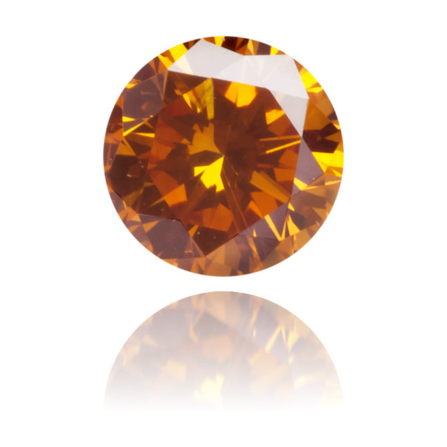 Natural Orange Diamond Round 0.21 ct Polished