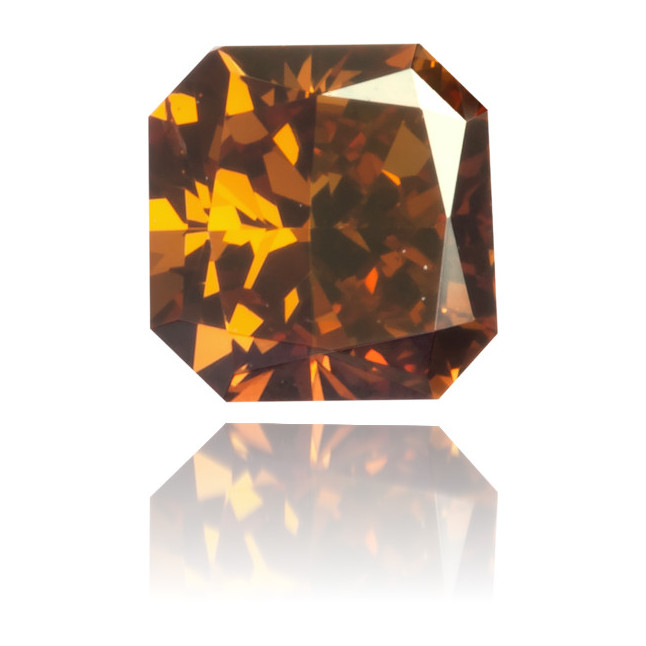 Natural Orange Diamond Square 0.30 ct Polished