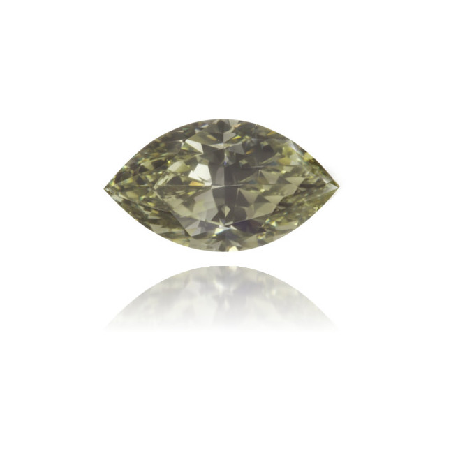 Natural Green Diamond Marquise 0.41 ct Polished