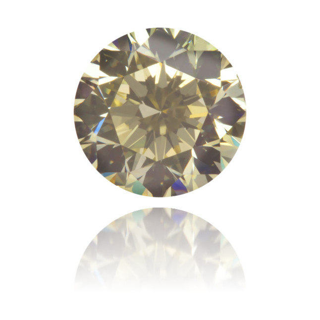 Natural Yellow Diamond Round 0.71 ct Polished