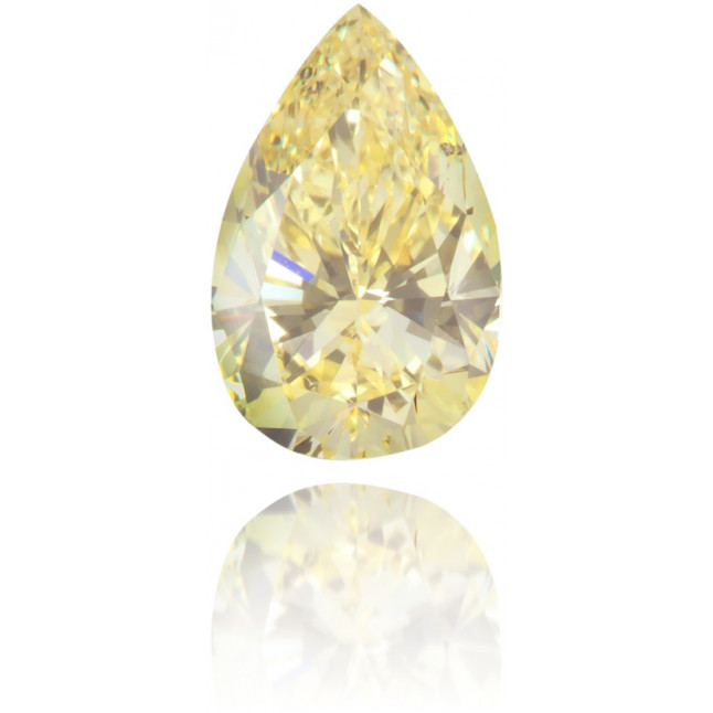 Natural Yellow Diamond Pear Shape 0.59 ct Polished