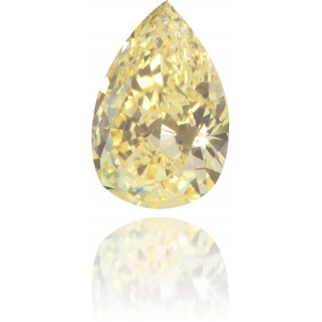 Natural Yellow Diamond Pear Shape 0.55 ct Polished