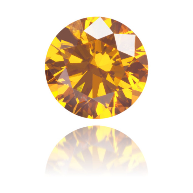 Natural Orange Diamond Round 0.50 ct Polished