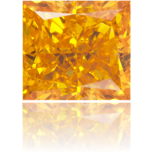 Natural Orange Diamond Square 0.45 ct Polished