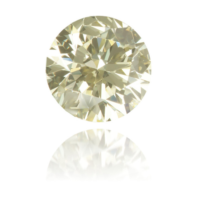 Natural Yellow Diamond Round 0.50 ct Polished