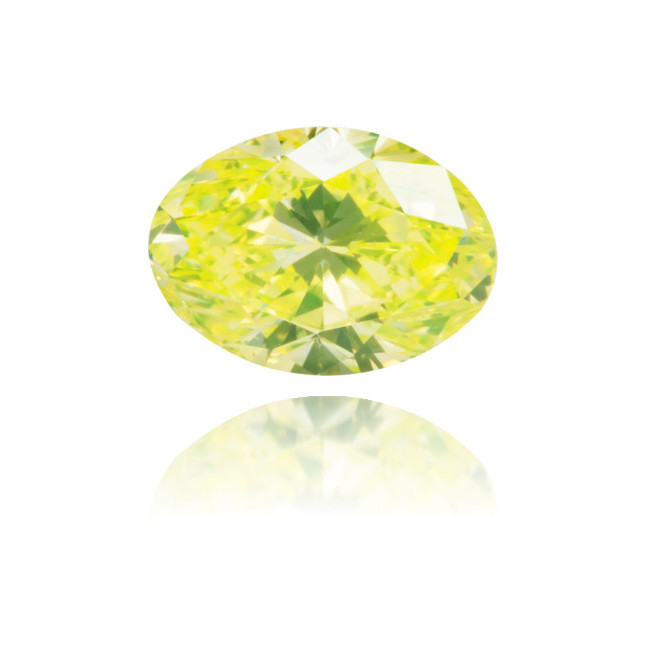 Natural Green Diamond Oval 0.54 ct Polished