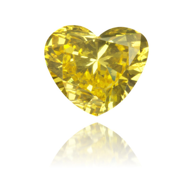 Natural Yellow Diamond Heart Shape 0.43 ct Polished