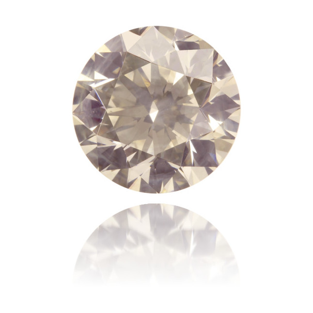 Natural Brown Diamond Round 2.74 ct Polished