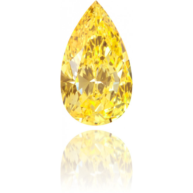 Natural Yellow Diamond Pear Shape 0.37 ct Polished