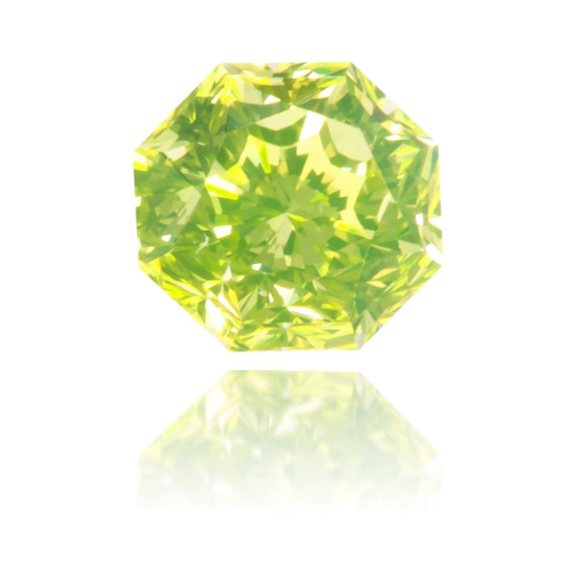 Natural Green Diamond Octagon 0.19 ct Polished