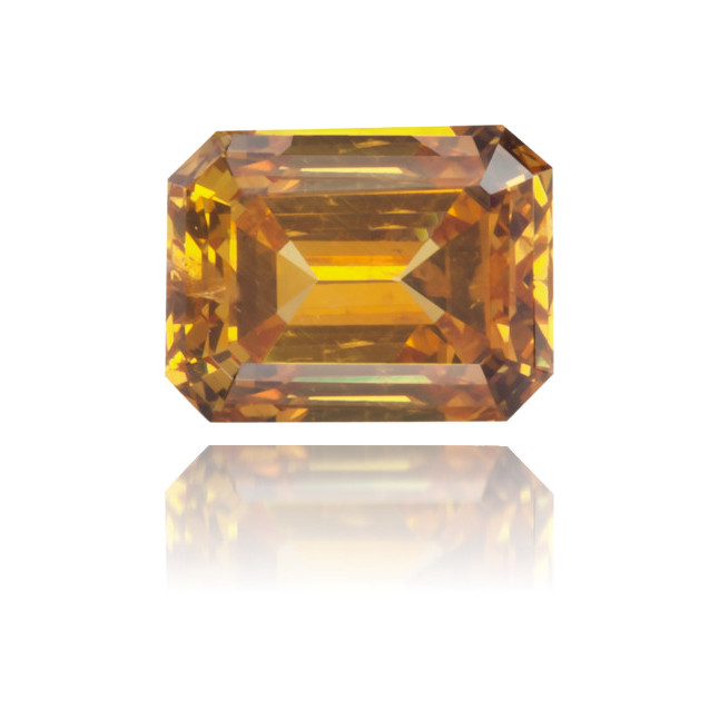 Natural Orange Diamond Rectangle 0.37 ct Polished
