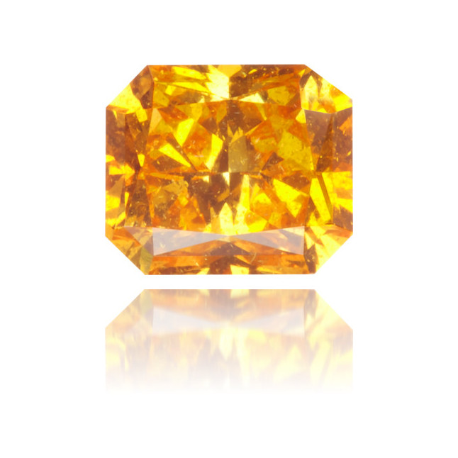 Natural Orange Diamond Rectangle 0.51 ct Polished