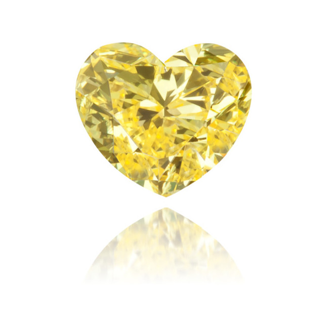 Natural Yellow Diamond Heart Shape 0.14 ct Polished