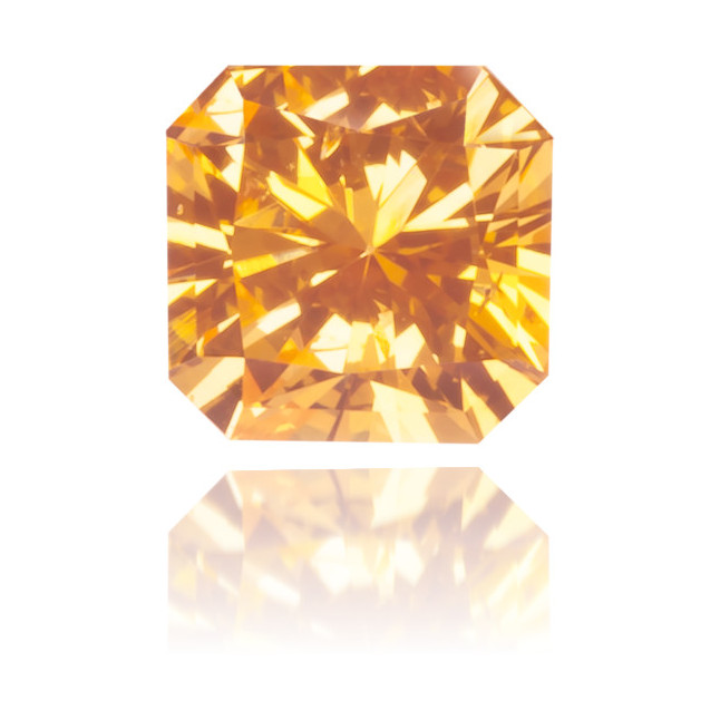 Natural Orange Diamond Square 0.17 ct Polished