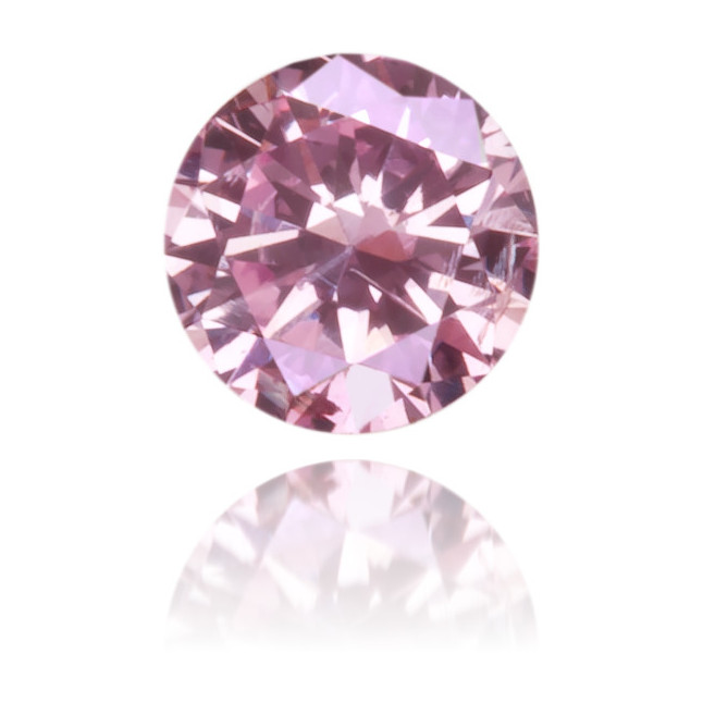 Natural Pink Diamond Round 0.09 ct Polished