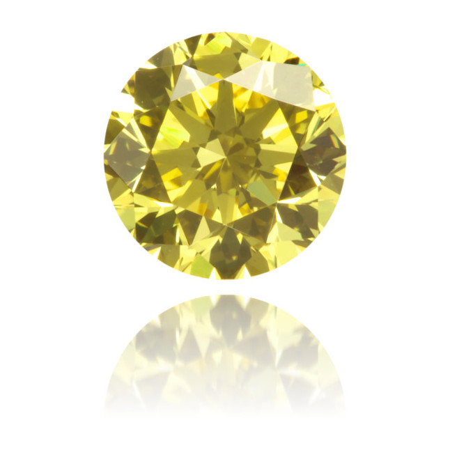 Natural Yellow Diamond Round 0.53 ct Polished
