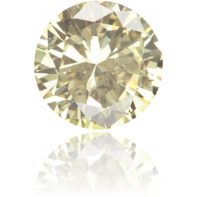 Natural Yellow Diamond Round 1.04 ct Polished