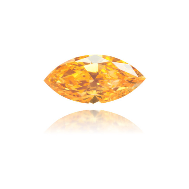 Natural Orange Diamond Marquise 0.26 ct Polished