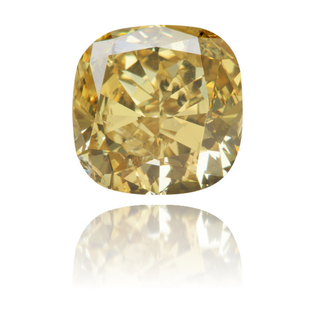 Natural Yellow Diamond Square 5.03 ct Polished