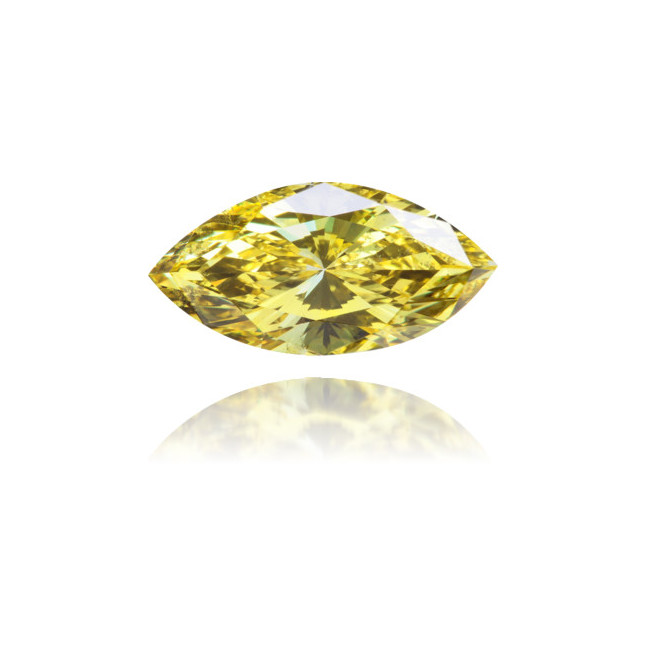 Natural Yellow Diamond Marquise 2.38 ct Polished
