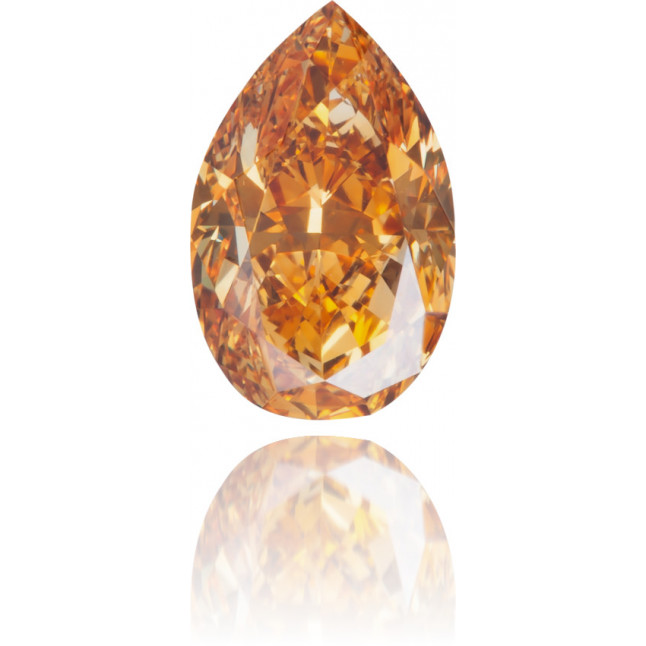 Natural Orange Diamond Pear Shape 0.66 ct Polished