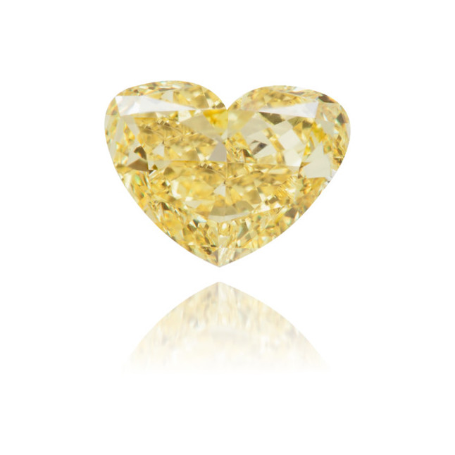 Natural Yellow Diamond Heart Shape 0.60 ct Polished
